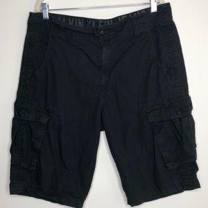 Calvin Klein black cargo shorts